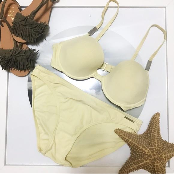 94a7a8050c81a Calvin Klein Other - Calvin Klein Light Pale Yellow Bikini Set 32D M